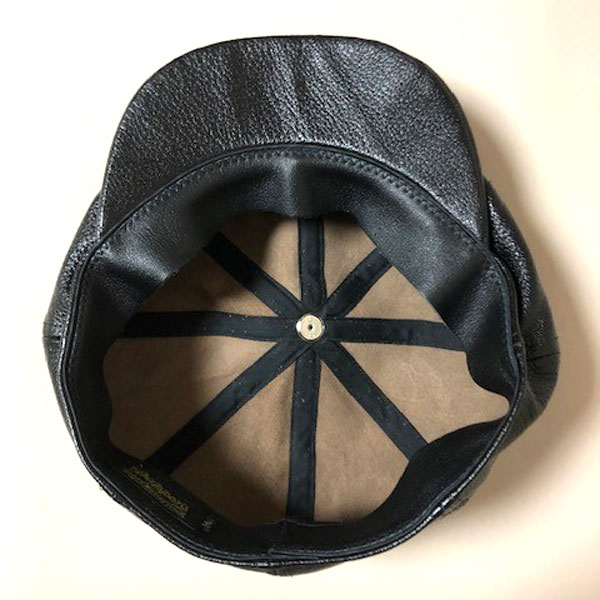 【Dapper's(ダッパーズ)】40's Style Leather Casquette LOT1436