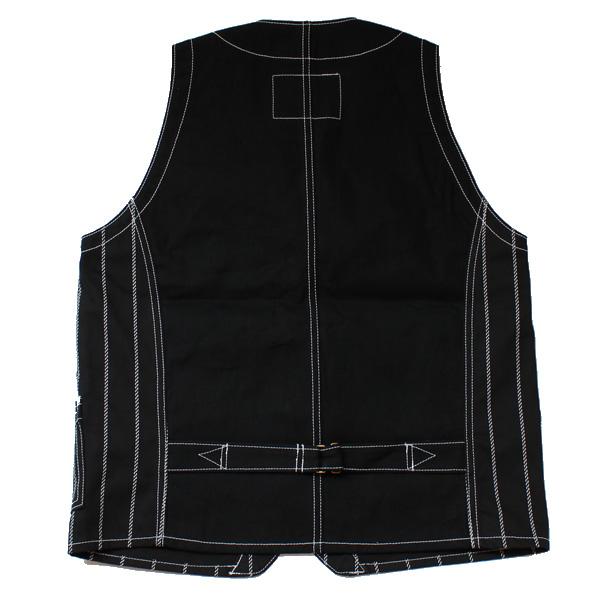 Dapper's(ダッパーズ)】Classical Railroader Work Vest LOT1343 レイルローダー ワークベスト wabash stripe
