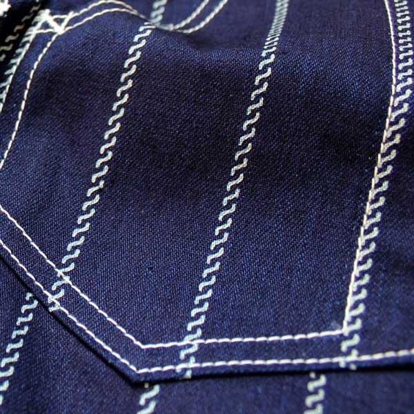 【Dapper's(ダッパーズ)】Classical Railroader Work Vest LOT1343 レイルローダー ワークベスト wabash stripe