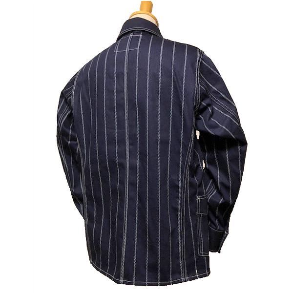 【Dapper's(ダッパーズ)】Classical Railroader Coverall Jacket LOT1344 レイルローダー カバーオール ジャケット wabash stripe