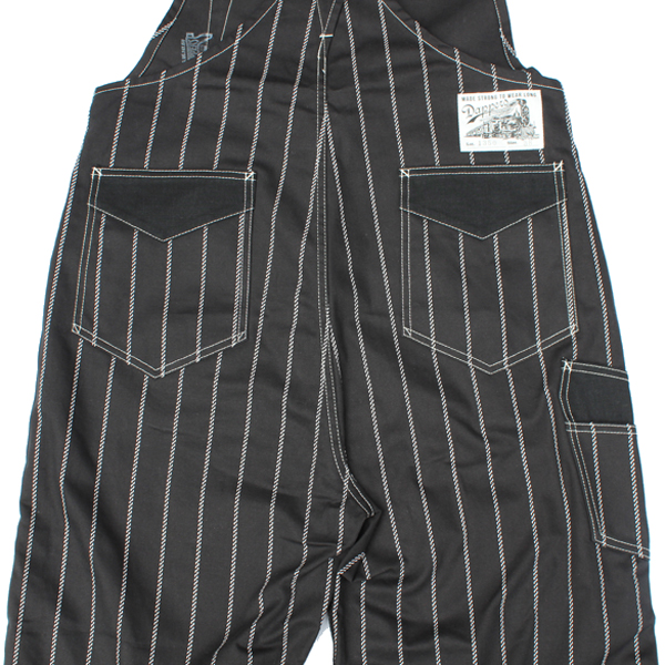 【Dapper's(ダッパーズ)】Classical Railroader Overalls Type Hi-BackVINTAGE BLACK ROPE WABASH STRIPE