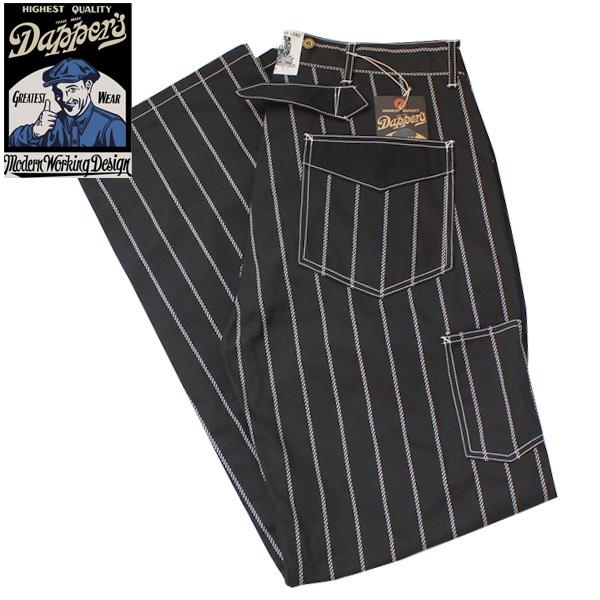 【Dapper's(ダッパーズ)】Classical Railroader Work Pants LOT1345 BLACK ROPE WABASH STRIPE