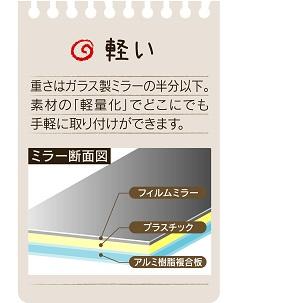 割れないミラー セーフティーミラー SF-12(S) 高さ340×幅240×奥行5�