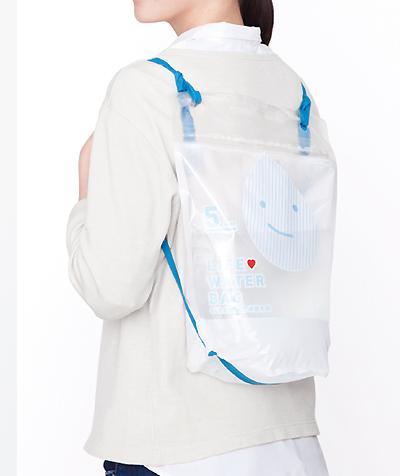 ライフウォーターバッグ 5L 2枚セット 非常用給水袋 背負う水袋