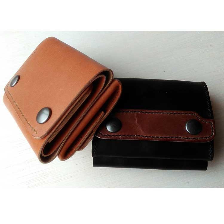 三つ折りボックスコインケース財布