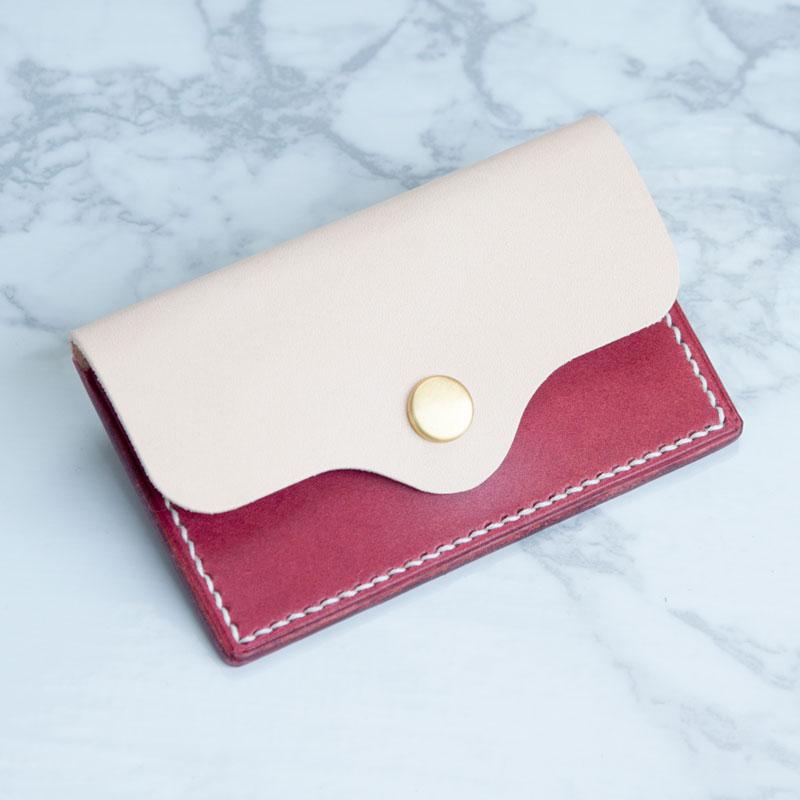 綺麗色 本革レザー  パスケース・カードケース