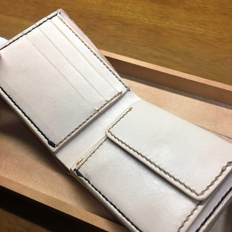 ブライドル&サドルレザーのシンプル二つ折り財布
