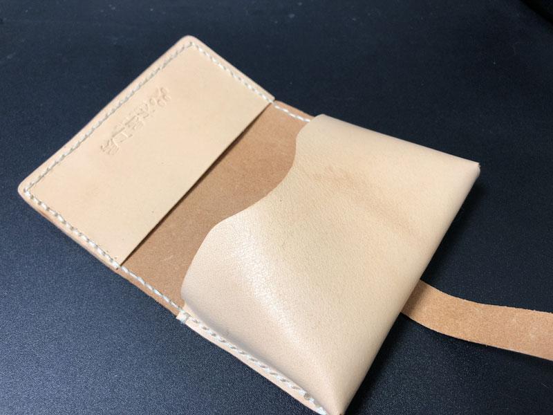 ヌメ革のカードケース(名刺入れ)