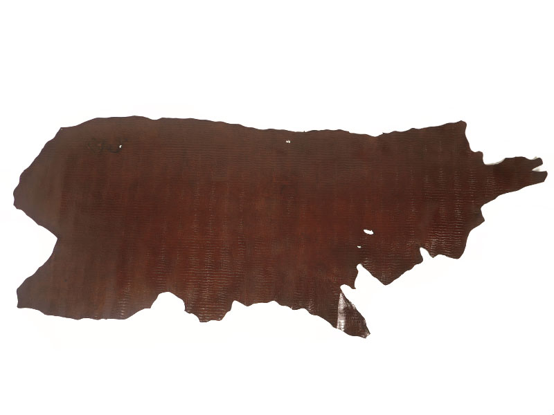 特価 クロコ型押し半裁(ダークブラウン) #306