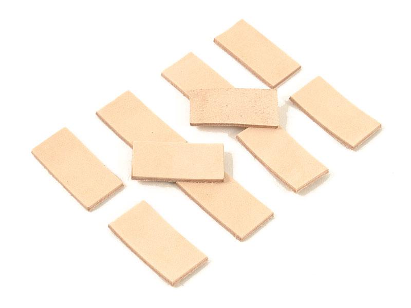 レザータグ端切れ(ヌメ革タンロー)10枚セット ■50x25mm(四角)