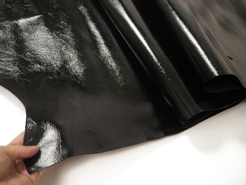 特価 水性エナメル型押し半裁(ブラック) #219