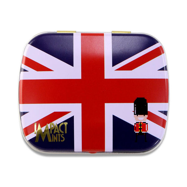 【IMPACT MINT】イギリス(ユイオンジャック缶)フレッシュミント ☆7,700円以上購入で送料無料!☆