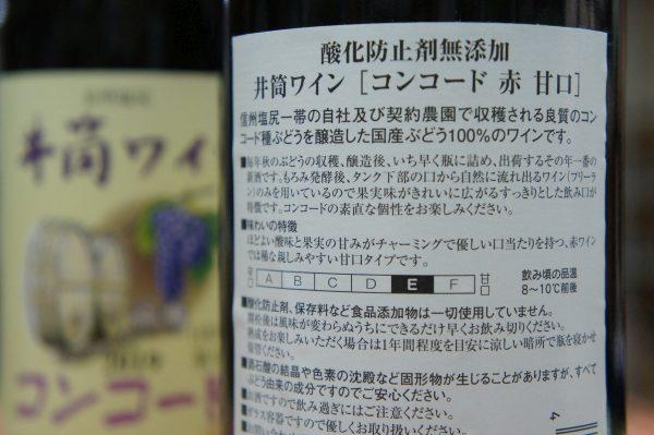 井筒ワイン コンコード 赤