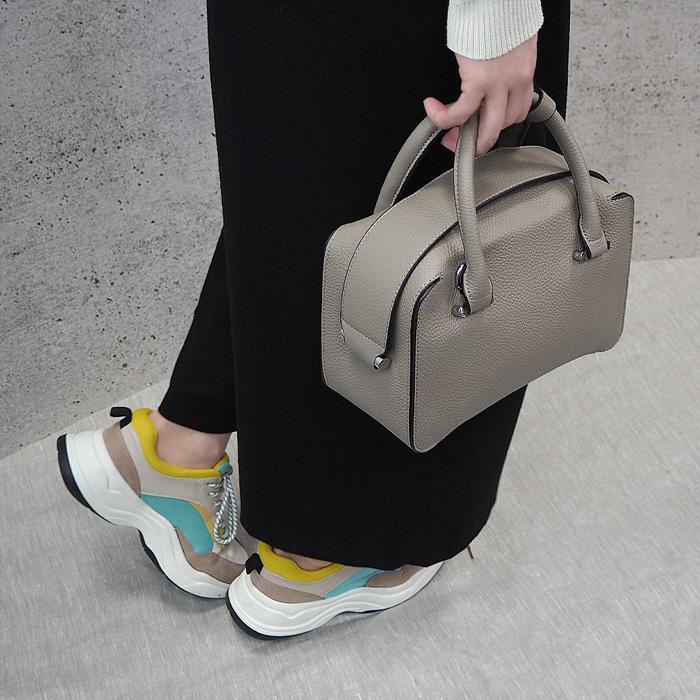 Milena ミレーナ 本革ボックス型ハンドバッグ