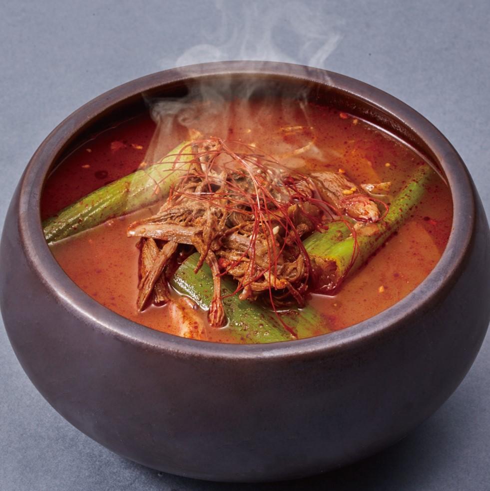 【冷凍】<韓美膳(ハンビジェ)>ユッケジャンスープ(単品)