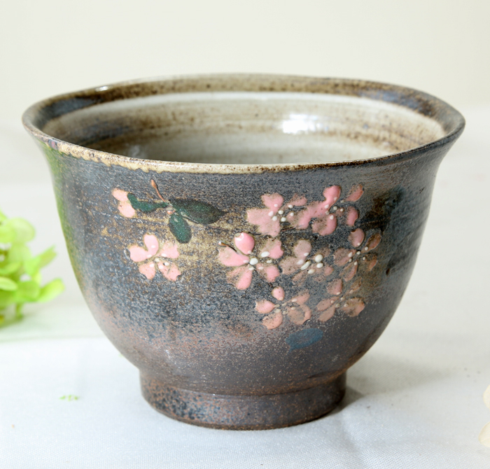 【益子焼】 小丼 深さのある さくら桜 丼物や麺類にも最適 開いた形 単品1個