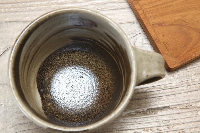 【益子焼】小さめお手頃サイズのマグカップ【布目ぶどうシリーズ】【単品1個】