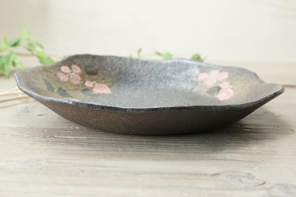 【益子焼】たたら作りの変形パスタ皿【サイズ中】【単品1枚】