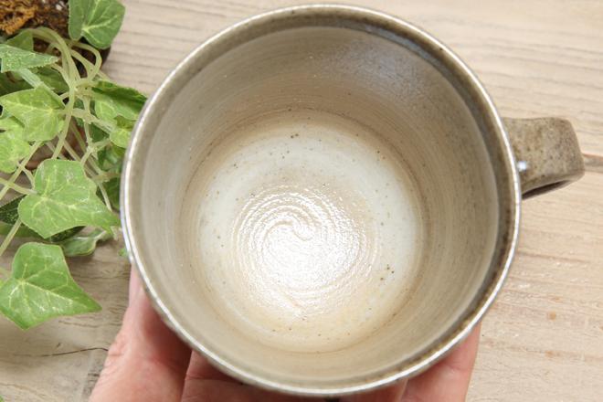 【益子焼】たっぷりマグカップ【刷毛目ピンクお花模様】【単品1個】
