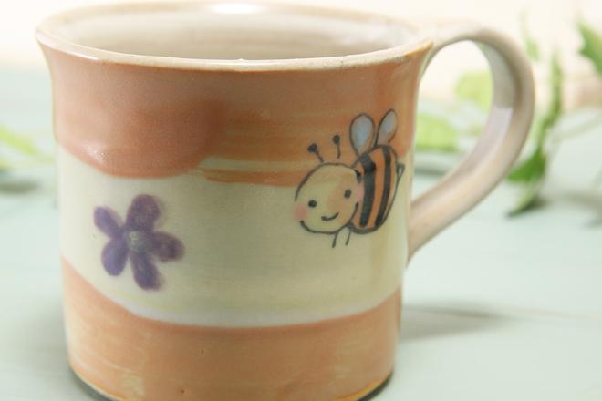 【益子焼】はちさんのたっぷりマグカップ【単品1個】