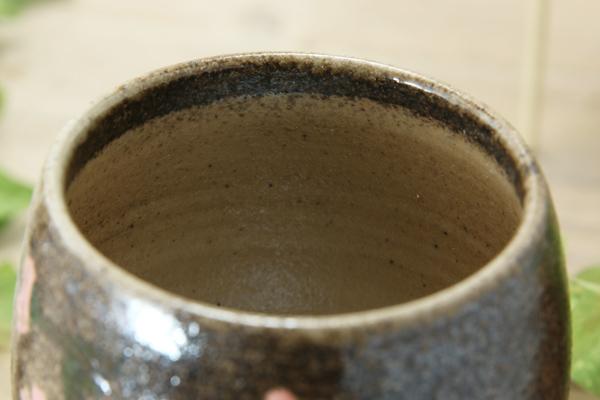 【益子焼】さくらの足付きワインカップ【単品1個】