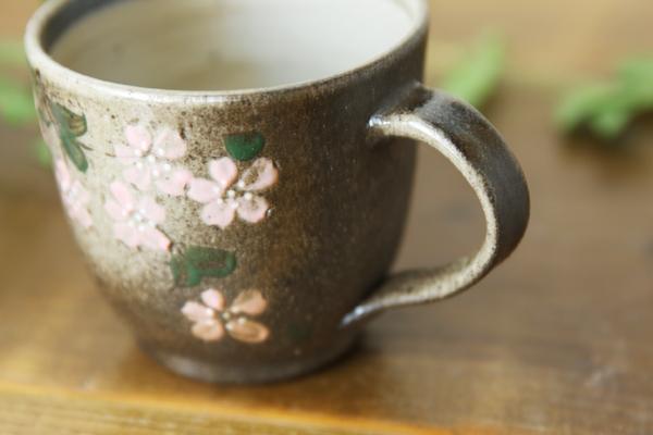 【益子焼】ふだん使い シンプルな形のマグカップ【さくら・単品1個】