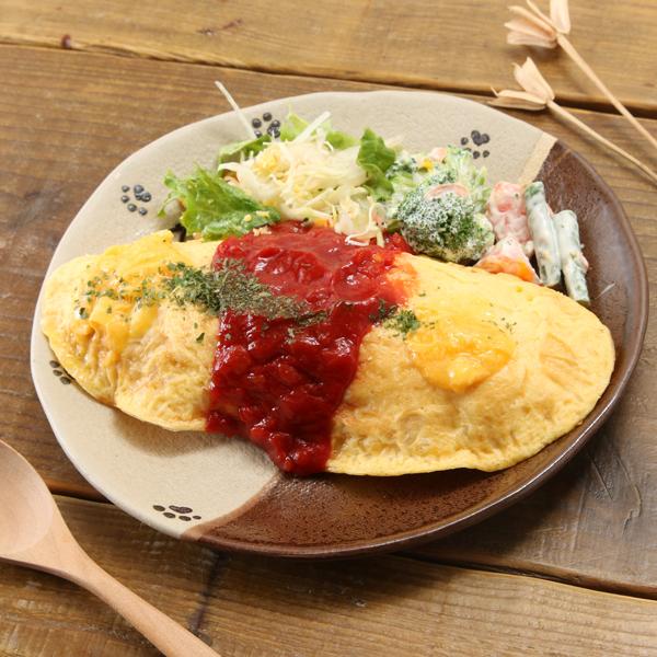 【益子焼】 肉球シリーズ 丸形の浅めパンプレート中皿約19.5cm 【単品1枚】