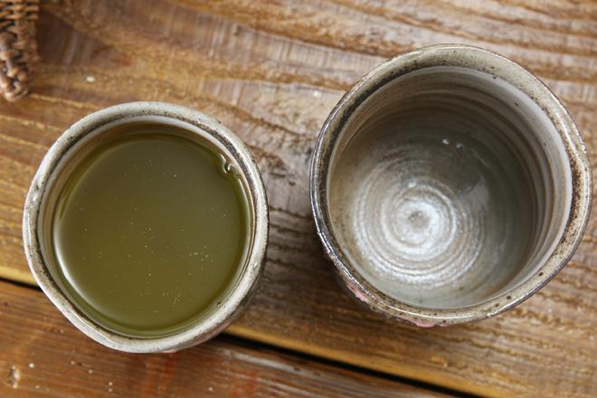 【益子焼】ろくろ目さくらのお湯のみ