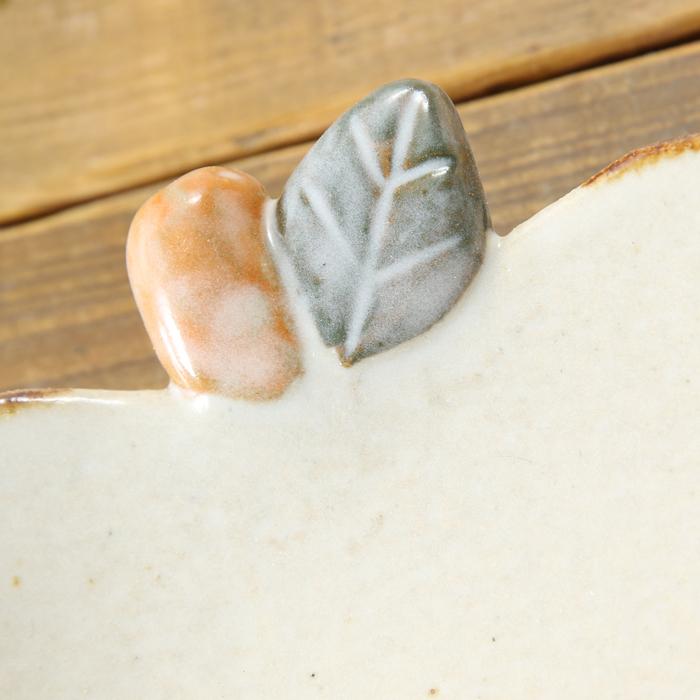【益子焼】釉薬シリーズ 可愛いりんご風のデザートプレート  中皿  【単品1枚】
