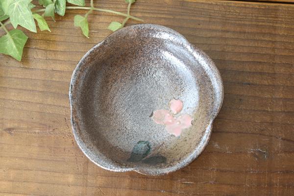 【益子焼】 小皿 豆皿 お手頃価格で使い勝手万能 花形変形お醤油小皿【単品1枚】