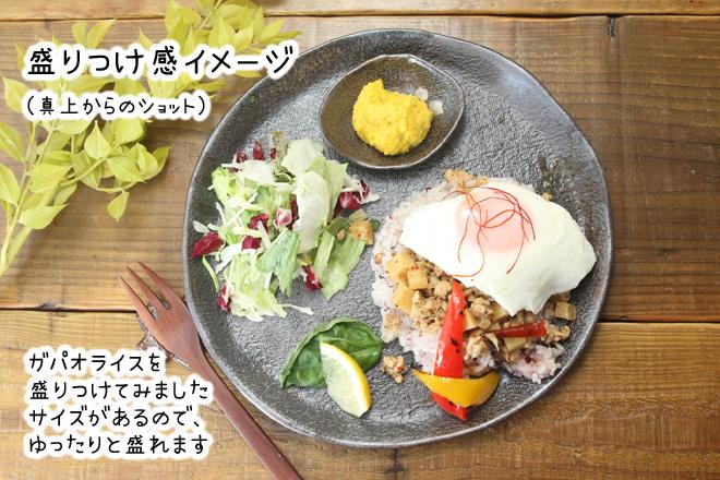 益子焼 炭化焼シリーズ  ワンプレート皿 ピザ皿 約26.5cm さくら桜 単品1枚