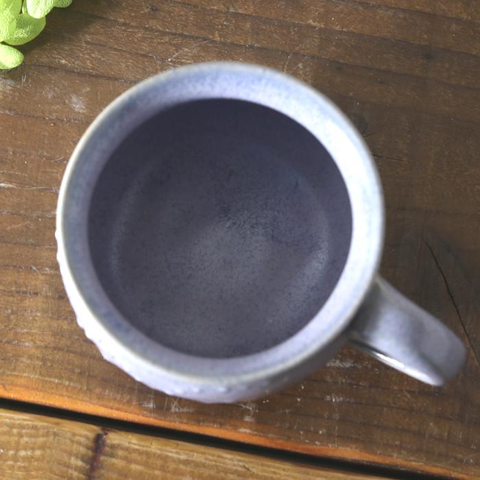 【益子焼】釉シリーズ お手頃サイズのマグカップ いっちん まだらバイオレット【単品1個】