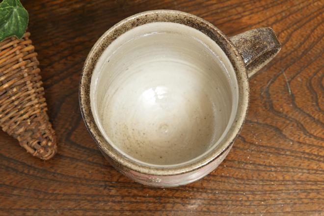 【益子焼】たっぷりマグカップ【コスモス/ピンク】【単品1個】