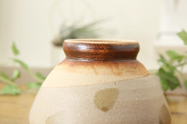 【益子焼】女性用・お子様用薄鉄絵水玉ごはん茶碗【サイズ小・単品1個】
