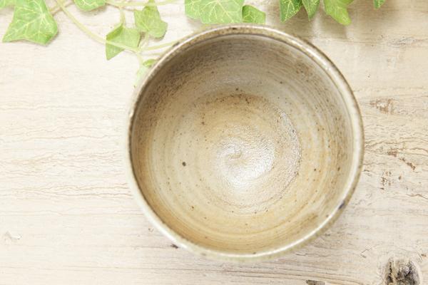 【益子焼】ほっこり丸形のさくら煎茶カップ【単品1個】