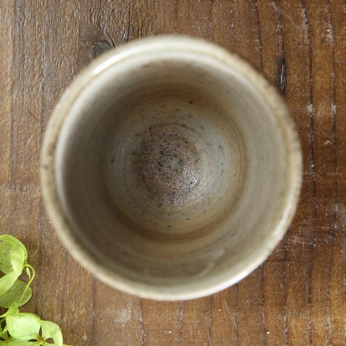 【益子焼】 日本酒グラス 冷酒カップ 冷酒グラス おしゃれ おちょこ お猪口 炭化焼 さくら桜 ストレート形 単品1個
