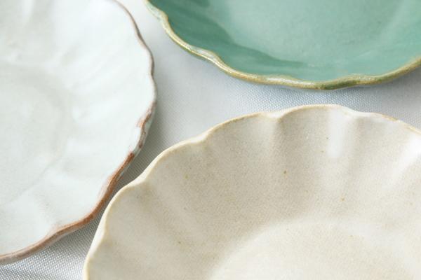 【益子焼】釉シリーズ 縁ひらひら深さのある取り皿(直径約15cm)【単品1枚】