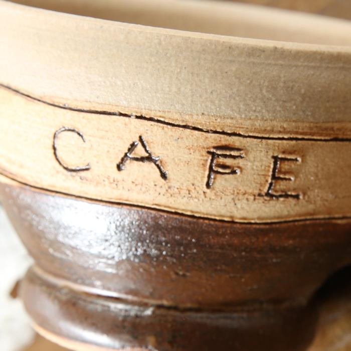【益子焼】 こどものスープマグカップ マグカップ 子供用 小さめ 釉薬を筆で塗ったレトロな風合い CAFE 【単品1個】