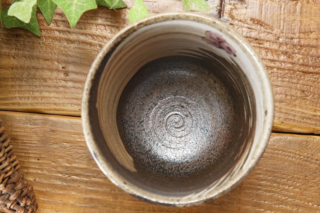 【益子焼】布目ぶどうの 焼酎カップ ロックカップ 【単品1個】