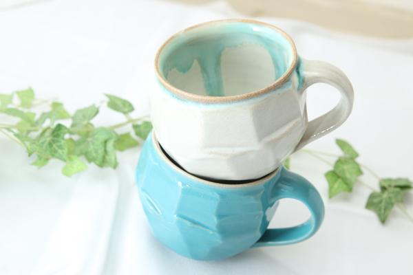 【益子焼】釉シリーズ 荒々しい面取りと重厚感のあるどっしりマグカップ【単品1個】