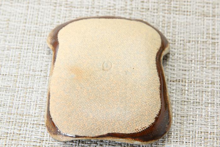食パン風 お醤油小皿・豆皿【つやあり釉シリーズ】【単品1枚】
