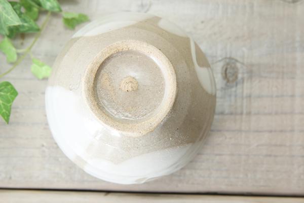 【益子焼】釉シリーズの流し掛けお手頃サイズのカフェオレボウル【つやあり透明釉】【単品1個】