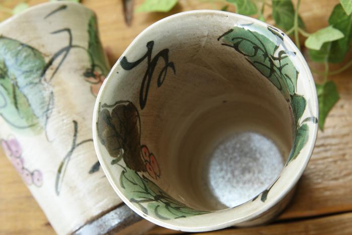ぶどうのフリーカップ【白化粧ぶどうシリーズ】【単品1個】