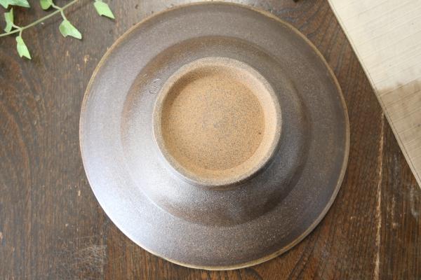 【益子焼】お料理を豪快に盛る ろくろ作りの豪快に開いたリム盛り鉢【サイズ中・単品1枚】