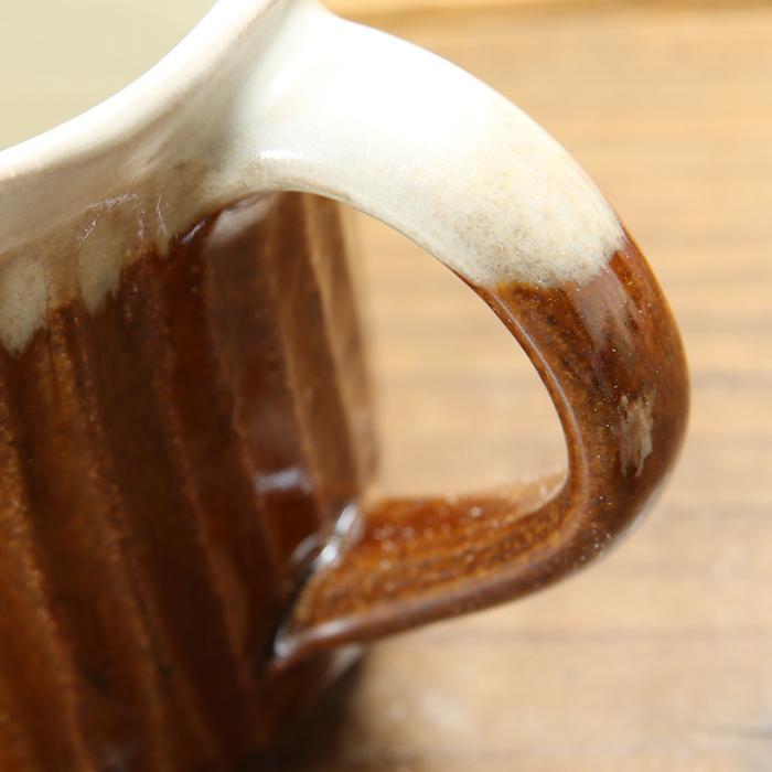 【益子焼】釉シリーズ しのぎ 寸胴マグカップ 【単品1個】