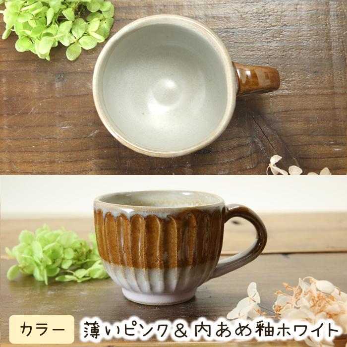 【益子焼】釉シリーズ しのぎ 小さめマグカップ 【単品1個】
