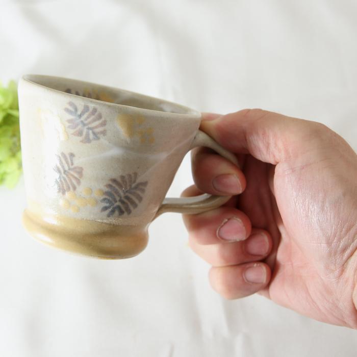 【益子焼】釉シリーズ ミモザ お手頃サイズのマグカップ 【単品1個】