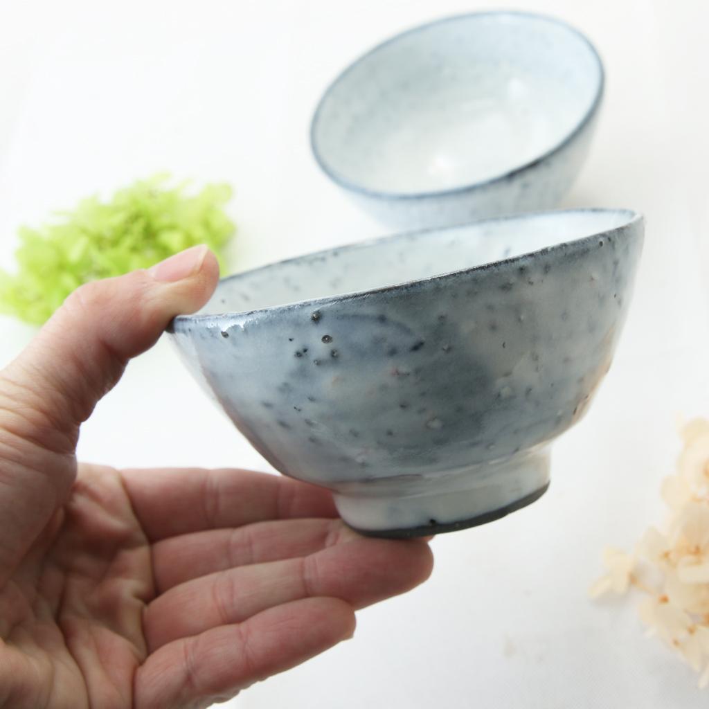 【益子焼】 訳あり アウトレット 荒土白釉 夫婦 ごはん茶碗 ご飯茶碗 飯椀
