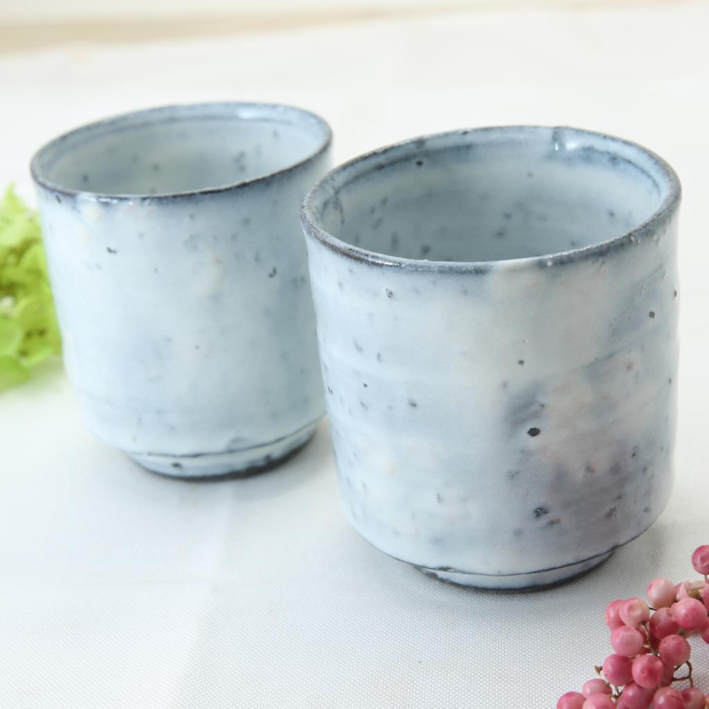 【益子焼】 訳あり アウトレット 荒土白釉 夫婦 湯呑み茶碗 湯呑み 湯飲み