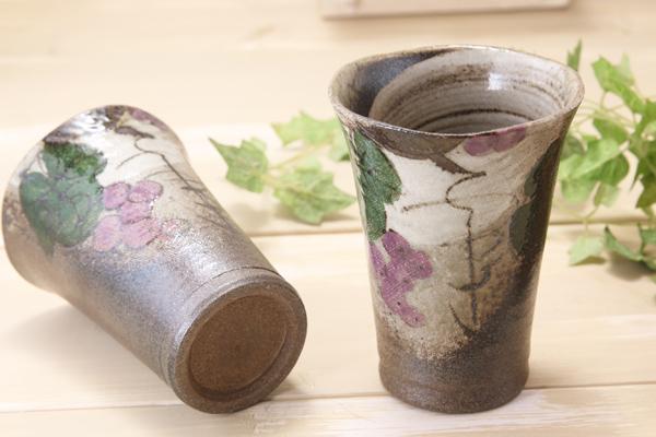 【益子焼】布目ぶどうのフリーカップ【単品1個】